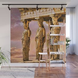 Porch of the Caryatids, Temple of Athena, Acropolis, Greece Portrait Painting Wall Mural