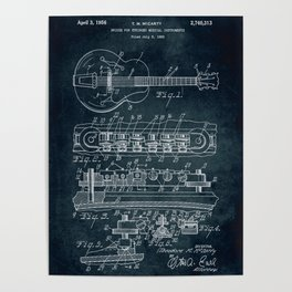 Bridge for stringed musical instruments patent Poster