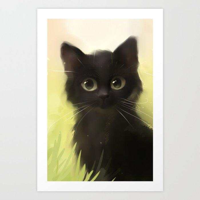 Savage Cat Art Print