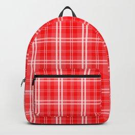 Christmas Red Tartan Plaid Check Backpack
