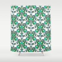 wedding Shower Curtains featuring White Wedding by RokinRonda
