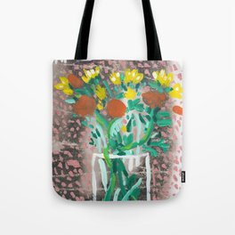 Yellow and Orange Flowers in a Vase Tote Bag
