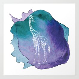 Color Spot Safari Giraffe Art Print