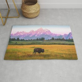 Grand Tetons Bison Rug