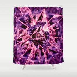 Pink Crack Shower Curtain