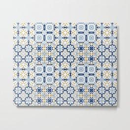 Mixed Portuguese Azulejos  Metal Print
