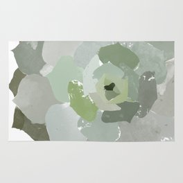 Watercolor Succulent Rug