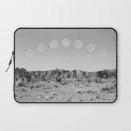 Desert Moon Ridge B&W // Summer Lunar Landscape Teal Sky Red Rock Canyon Rock Climbing Photography Laptop Sleeve