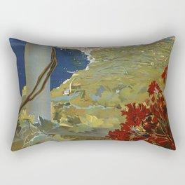 Isle of Capri Italian travel ad Rectangular Pillow