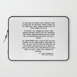 It was one of those rare smiles - F. Scott Fitzgerald Laptop Sleeve