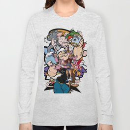 cartoon retro 90s 80s classic print Long Sleeve T-shirt