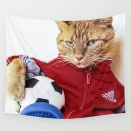 The Cat is #Adidas Wall Tapestry