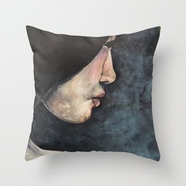 Girl in Trees Throw Pillow