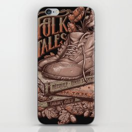 Folk Tales - Vintage colors iPhone Skin