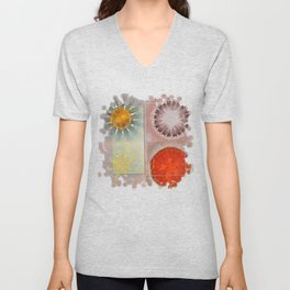 Flagonet Reality Flowers  ID:16165-093245-05721 Unisex V-Neck