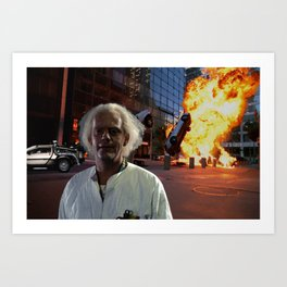 Action Exsplosions : Doc Brown! Art Print
