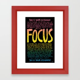 FOCUS 2017, by Courtney Martin and Wendy MacNaughton Framed Art Print