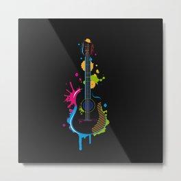 Graffiti guitar Metal Print