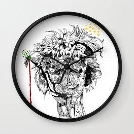 llama (A couple) - Heart fluttering Wall Clock