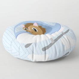 Mobil series helicopter horse Floor Pillow