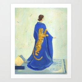 Tiger Kimono Art Print