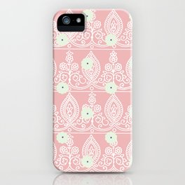 Gypsy Lace in Salmon Pink iPhone Case