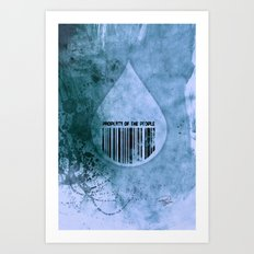 Water, Property of the People 1 Art Print