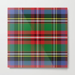Christmas Colorful Plaid Pattern Metal Print