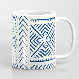Line Mud Cloth // Ivory & Navy Coffee Mug