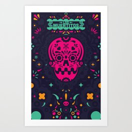 LOS MUERTITOS V01 Art Print