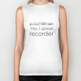 I speak recorder Biker Tank