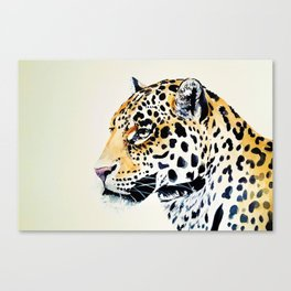 The Leopard Watercolor (Color) Canvas Print