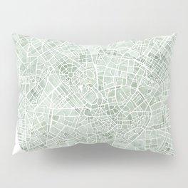 Milan Italy watercolor map Pillow Sham