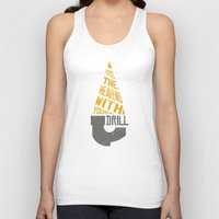 gurren lagann Tank Tops featuring Pierce The Heavens With Your Drill by 5eth