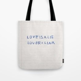 Love Is a Lie Basquiat Diary Tote Bag