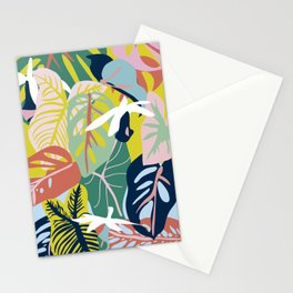 Caladium and Monsteras  Stationery Cards