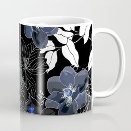 Botanical Bliss Black Coffee Mug