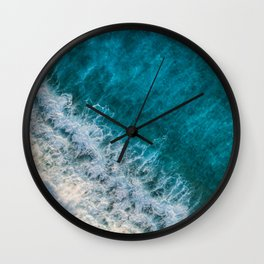Blue Oceanside Photography Wall Clock