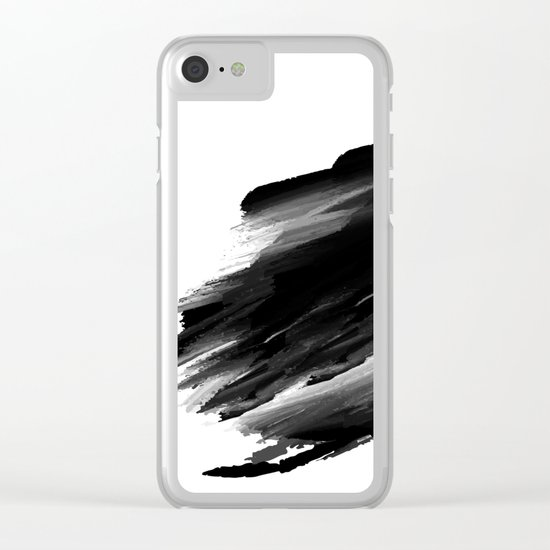My mood when I miss you Clear iPhone Case