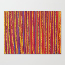 Stripes  - Cheerful yellow orange red and blue Canvas Print