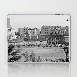 Tenby Harbour. Black+White. Reflection. Laptop & iPad Skin