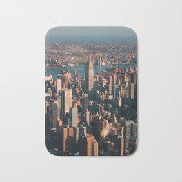 Birds eye view of Empire State Building Bath Mat