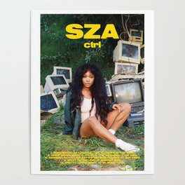 SZA - ctrl - Album Cover Poster - Poster Print Wall Art A3, Custom Poster, Home Poster