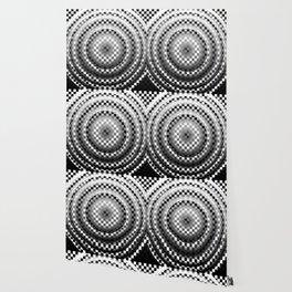 Black and white chessboard Wallpaper