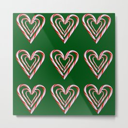 Triple Candy Cane Print Metal Print