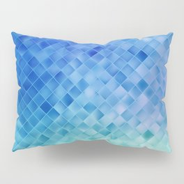 Blue Mosaic Pattern Pillow Sham