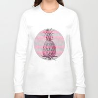 pineapple Long Sleeve T-shirts featuring Pineapple by LebensART
