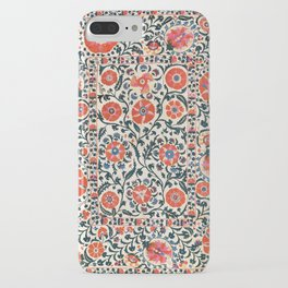 Shakhrisyabz Suzani  Uzbekistan Antique Floral Embroidery Print iPhone Case