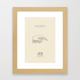 I'm with Jeb 2016 Framed Art Print
