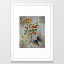 French Ephemera and Vintage Floral 2 - Collage Art - Vintage Botanical Framed Art Print